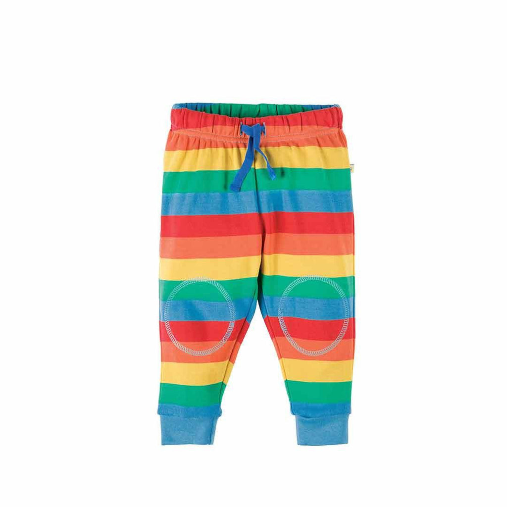 Frugi Kneepatch Crawlers - Rainbow Stripe