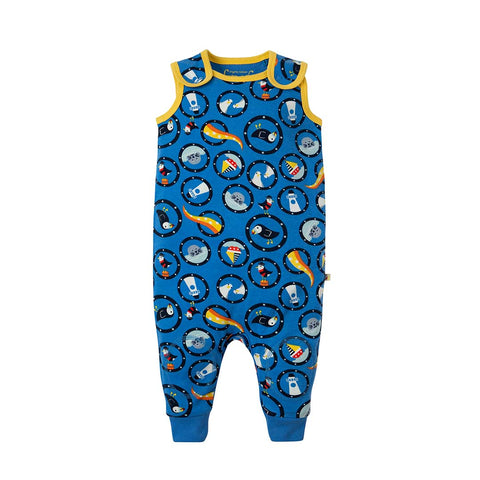 Frugi Kneepatch Dungarees - All Aboard-Dungarees- Natural Baby Shower