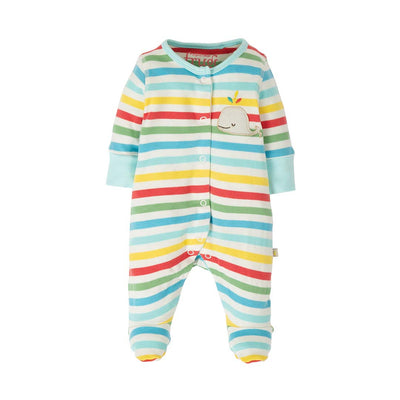 Frugi Little Applique Babygrow - My First Frugi Multi-Rompers- Natural Baby Shower