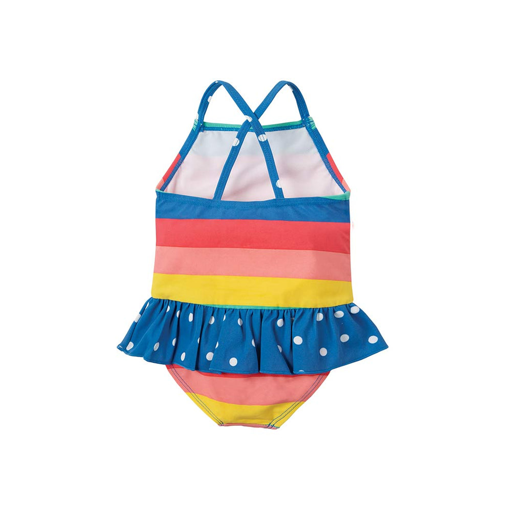 8e86571637 ... Frugi Little Coral Swimsuit - Bright Rainbow Stripe-Swimwear- Natural  Baby Shower ...