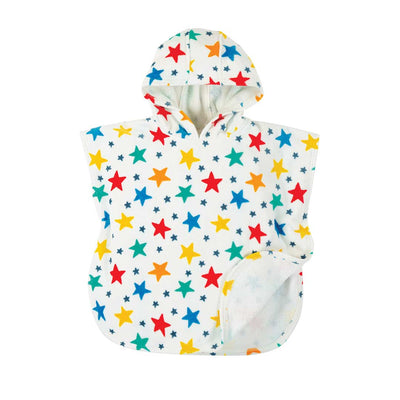 Frugi Little Havana Hooded Towel - Multi Star-Towels & Robes- Natural Baby Shower