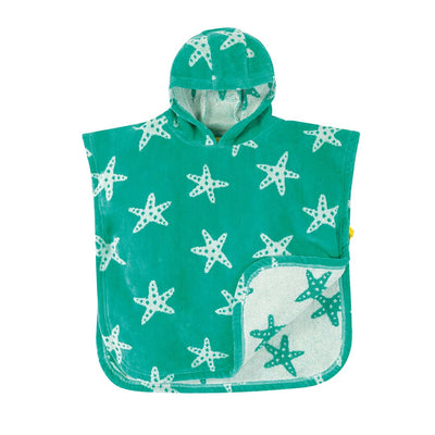 Frugi Little Havana Hooded Towel - Pacific Starfish-Towels & Robes- Natural Baby Shower