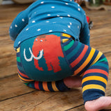 Frugi Little Knitted Leggings - Rainbow Stripe/Mammoth-Tights- Natural Baby Shower