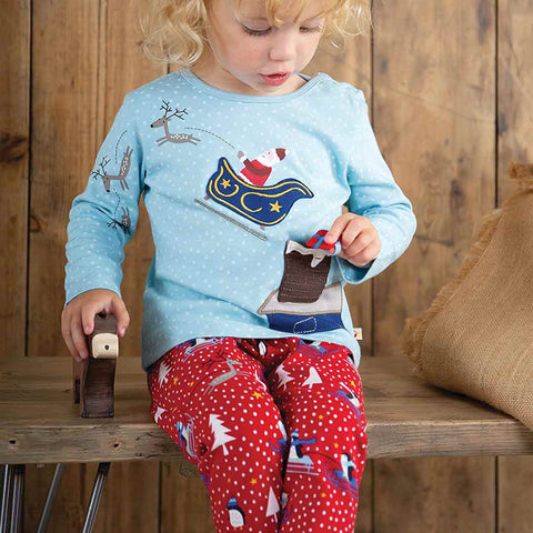 Frugi Little Libby Printed Leggings - Penguin Play-Leggings- Natural Baby Shower