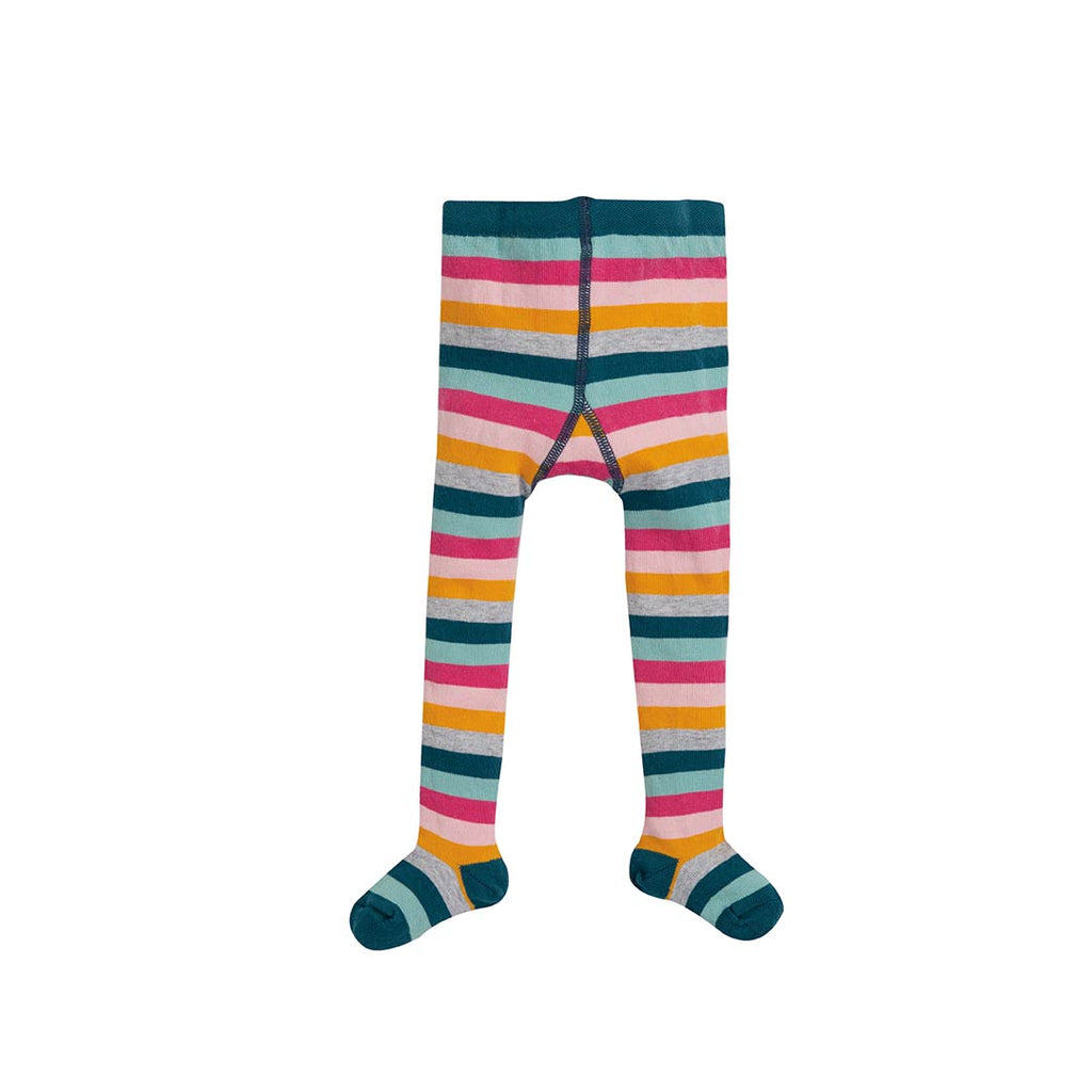 Frugi Little Norah Tights - Cosmic Stripe-Tights- Natural Baby Shower