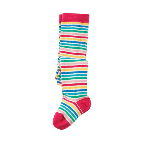 Frugi Little Norah Tights - Multi Fine Stripe