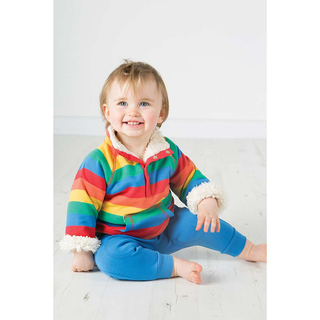 Frugi Little Snuggle Fleece - Rainbow Stripe 2