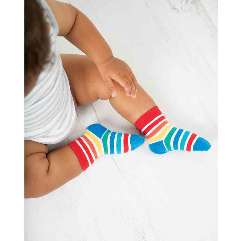 Frugi Little Socks - Bird - 3 Pack 4