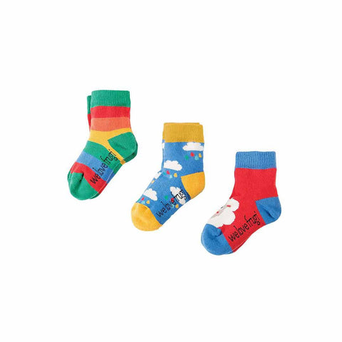 Frugi Little Socks - Sheep - 3 Pack