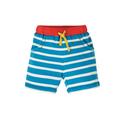 Frugi Little Stripy Shorts - Motosu Blue Stripe-Shorts- Natural Baby Shower