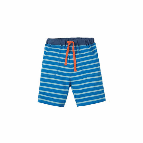 Frugi Little Stripy Shorts - Sail Blue Breton-Shorts- Natural Baby Shower