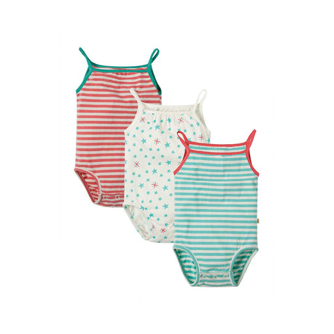 Frugi Little Verity Vest Bodies - Stargazing - 3 Pack-Bodysuits- Natural Baby Shower