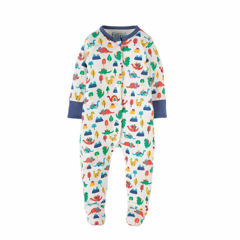 Frugi Lovely Babygrow - Dino Days