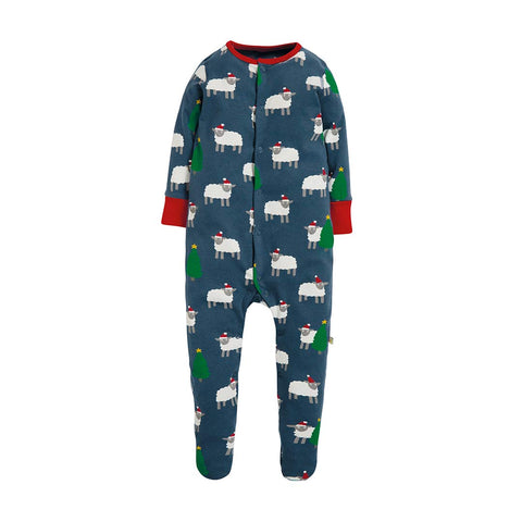 Frugi Lovely Babygrow - Hide And Sheep-Rompers- Natural Baby Shower