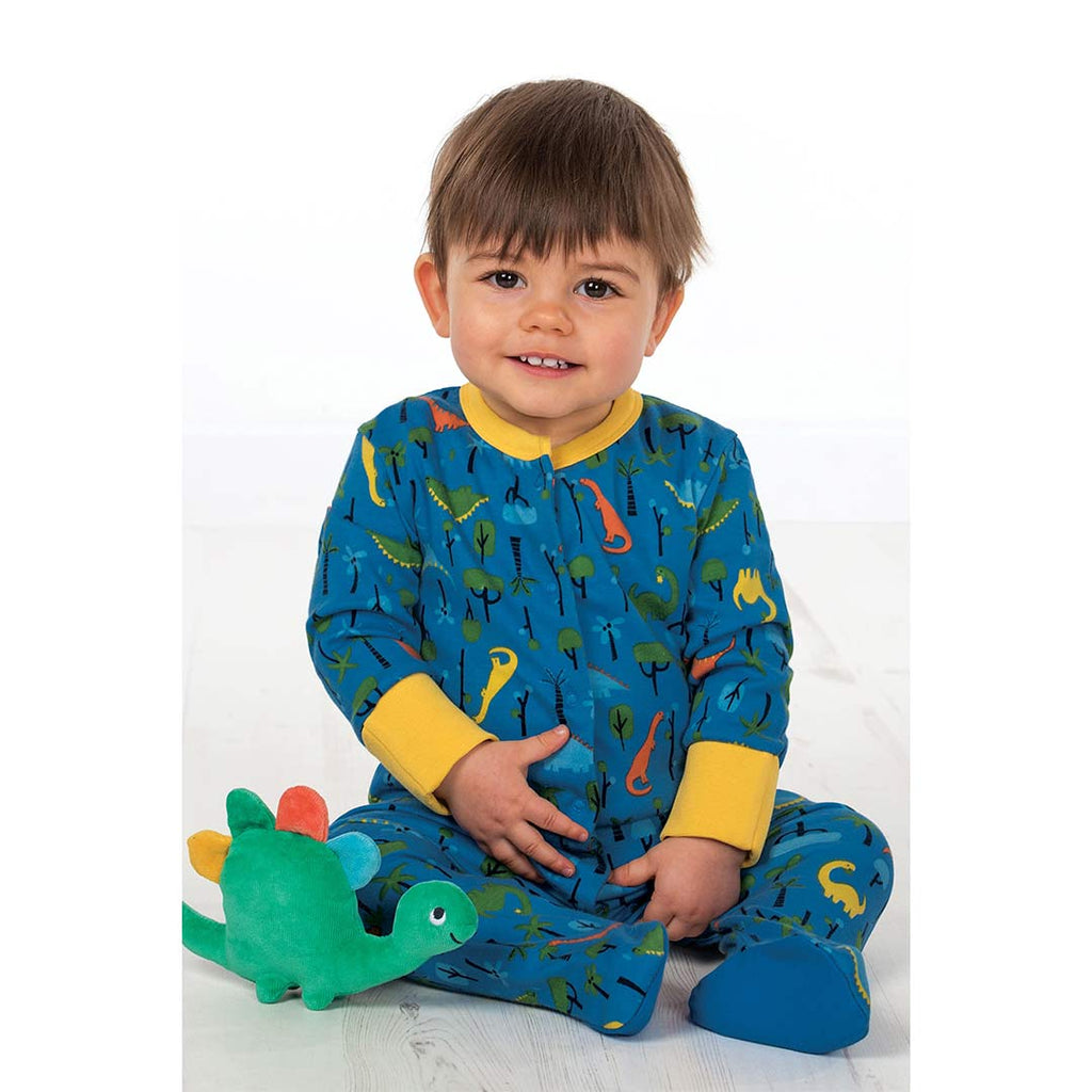 Frugi Lovely Babygrow - Jurassic Jungle 1