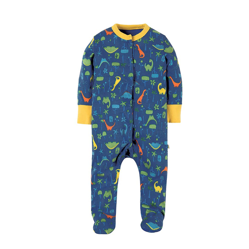 Frugi Lovely Babygrow - Jurassic Jungle