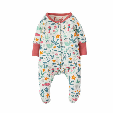 Frugi Lovely Little Babygrow - Rockpool Mermaids-Rompers- Natural Baby Shower