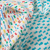 Frugi Lovely Muslins - Otter/Fish - 2 Pack Close Up
