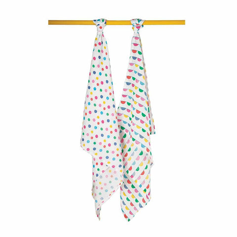 Frugi Lovely Muslins - Spots/Bunting - 2 Pack