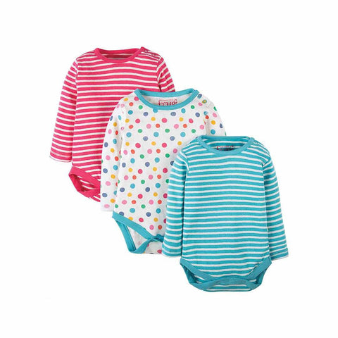 Frugi Luxury Pointelle Bodies - 3 Pack