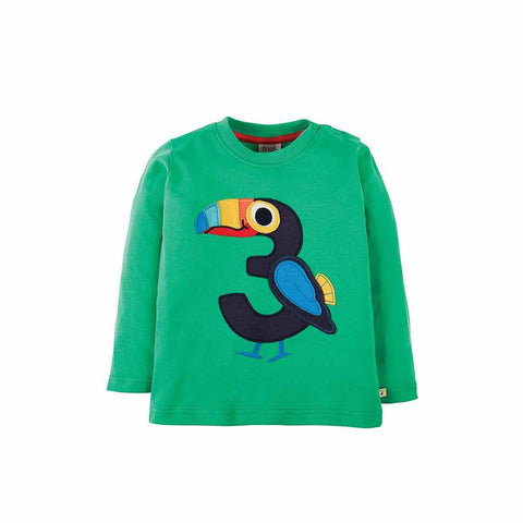 Frugi Magic Number Top - Eden Green/Toucan