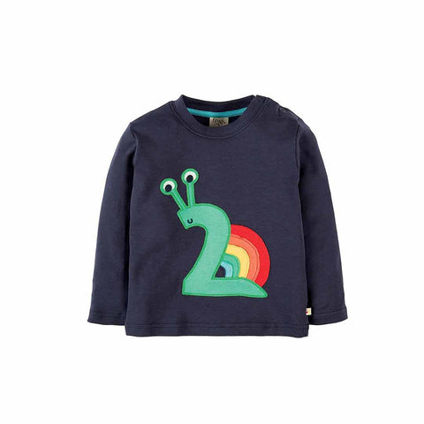 Frugi Magic Number Top - Navy/Snail