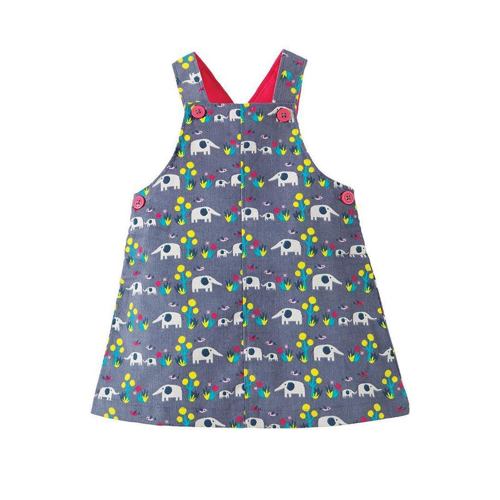 Frugi Molly Cord Pinafore Dress - Elly Savanna 2