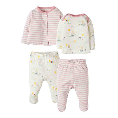 Frugi My First 4 Piece Set - Tulip Fields-Clothing Sets- Natural Baby Shower