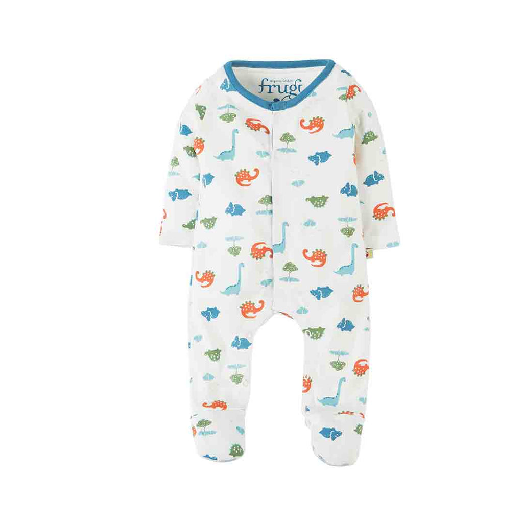 Frugi My First Babygrow - Dinky Dinos-Sleepsuits- Natural Baby Shower