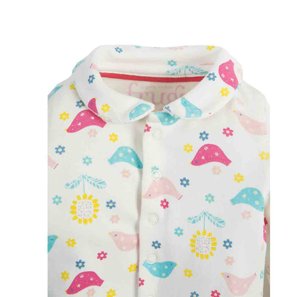 864f49411 Frugi My First Collar Babygrow in Chickadee – Natural Baby Shower