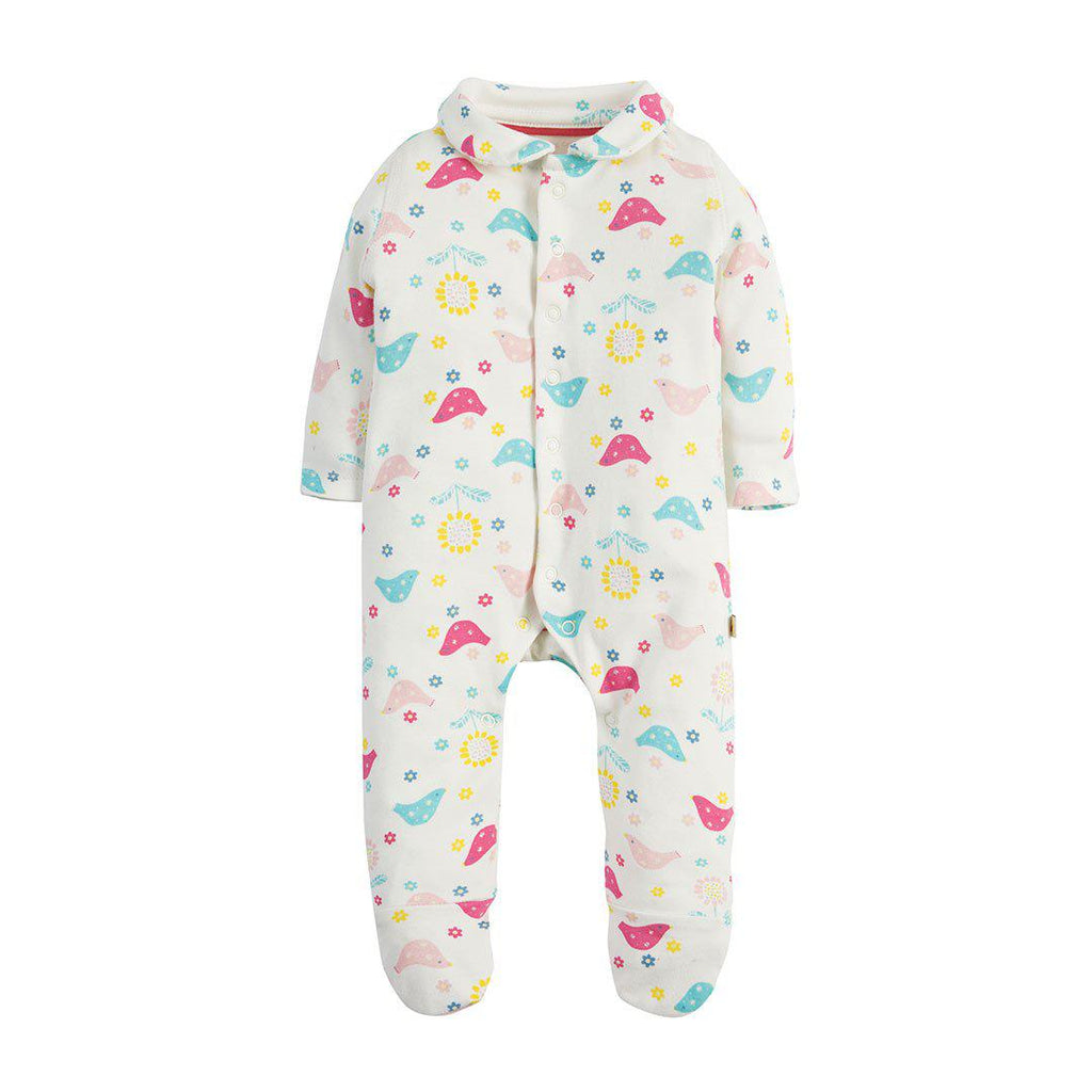 fe377ab77 Frugi My First Collar Babygrow in Chickadee – Natural Baby Shower