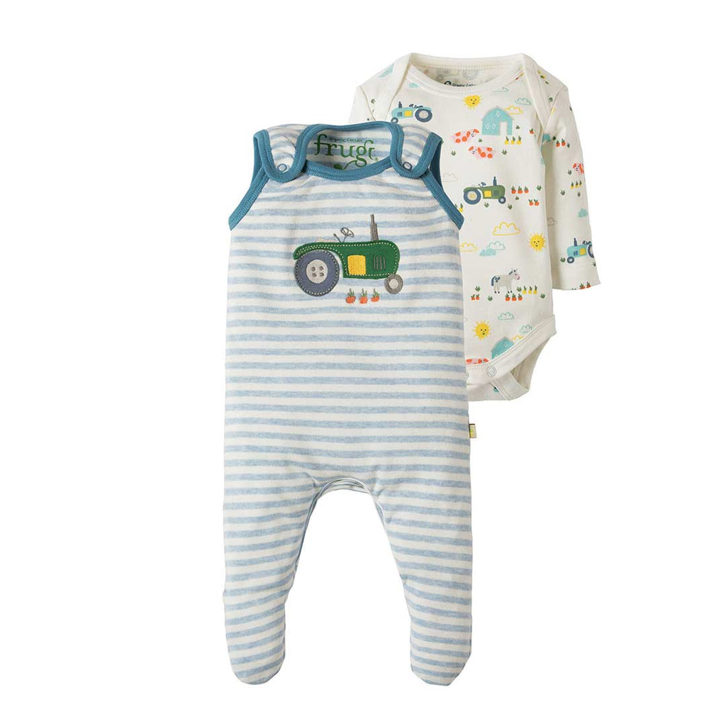 Frugi My First Outfit - Blue Marl Stripe 2