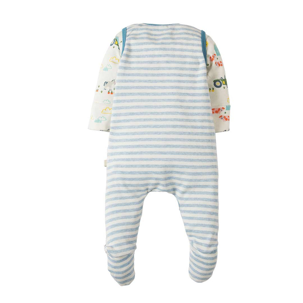 Frugi My First Outfit - Blue Marl Stripe 1