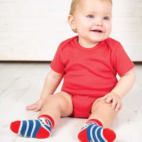 Frugi Over The Rainbow Bodies 5 Pack - Rainbow-Bodysuits- Natural Baby Shower