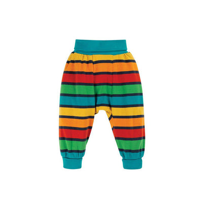 Frugi Parsnip Pants - Bumble Bee Rainbow Stripe-Pants- Natural Baby Shower