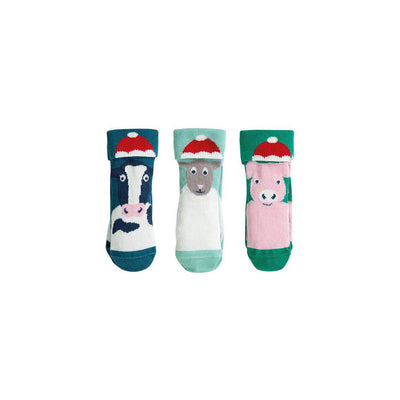 Frugi Paw-som Socks in a Box - Festive Friends Multi-Socks- Natural Baby Shower