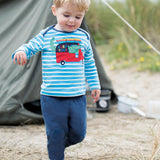 Frugi Playtime Kneepatch Crawlers - Navy Lifestyle