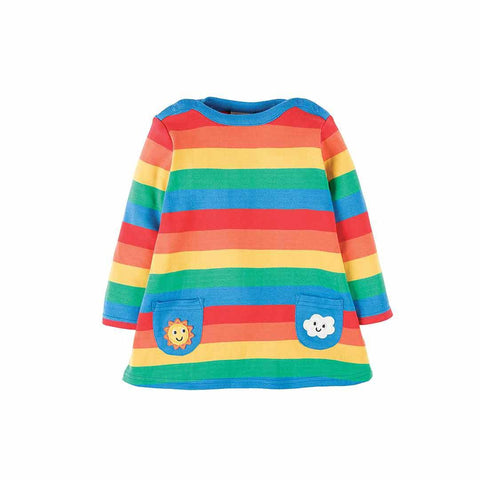 Frugi Rainbow Dress - Rainbow Stripe