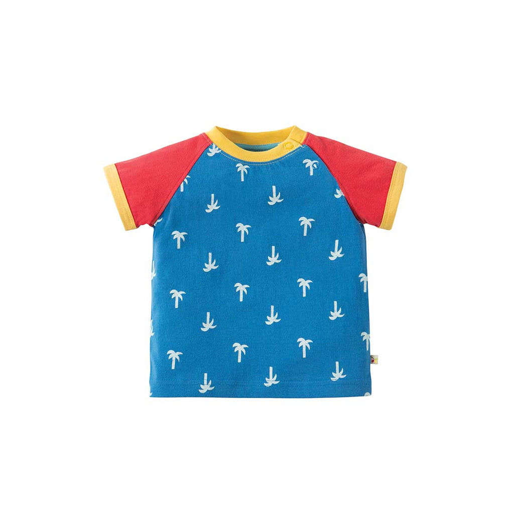 Frugi Renny Raglan Top - Palm Springs-Short Sleeves- Natural Baby Shower