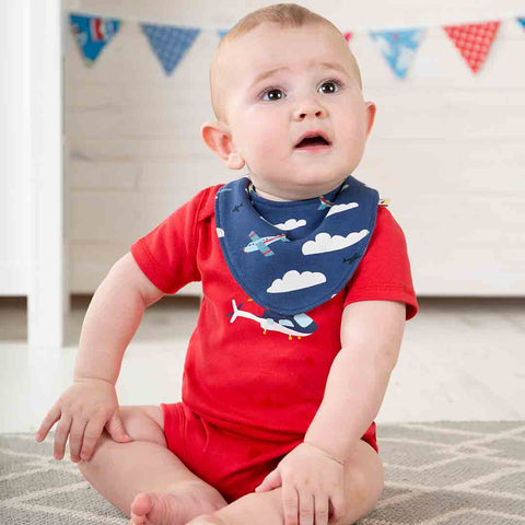 Frugi Super Special Bodies - Scilly Skybus - 3 Pack-Bodysuits- Natural Baby Shower