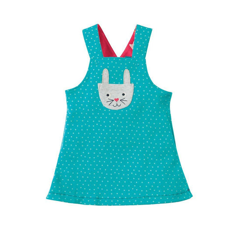 Frugi Rio Reversible Dress - Holibob Bunny-Dresses- Natural Baby Shower
