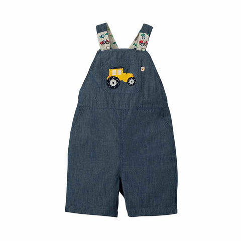 Frugi Rory Reversible Dungarees - Tropical Tresco-Dungarees- Natural Baby Shower