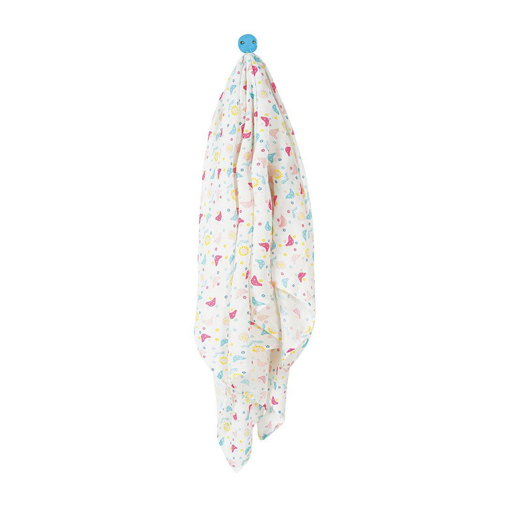 Frugi Scrumptious Muslin Swaddle - Chickadee-Swaddling Wraps- Natural Baby Shower
