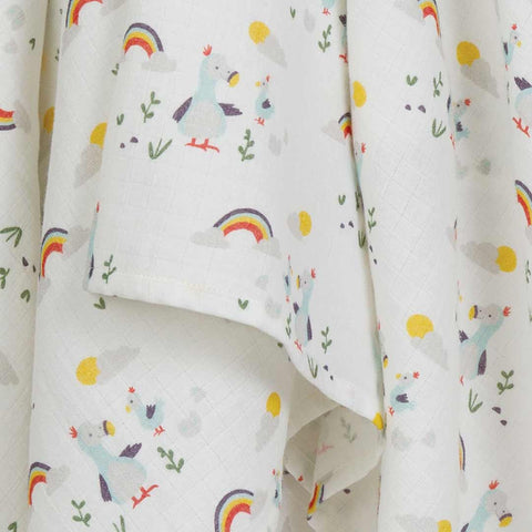 Frugi Scrumptious Muslin Swaddle - Delightful Dodos-Swaddling Wraps- Natural Baby Shower