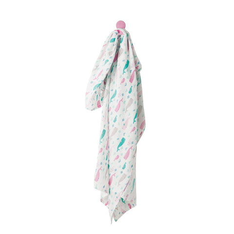 Frugi Scrumptious Muslin Swaddle - Little Whale Pod-Swaddling Wraps- Natural Baby Shower