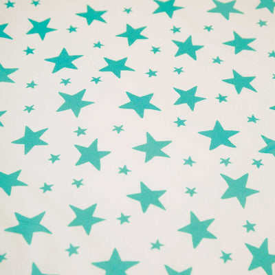 Frugi Sleepy Single Bed Sheet - Pacific Aqua Twinkle-Sheets-One Size-Pacific Aqua Twinkle- Natural Baby Shower