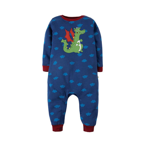 Frugi Snug And Cosy Romper - Westward Wind/Dragon-Rompers- Natural Baby Shower