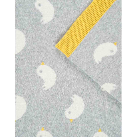 Frugi Snug As A Bug Blanket - Knitted Ducks Detail