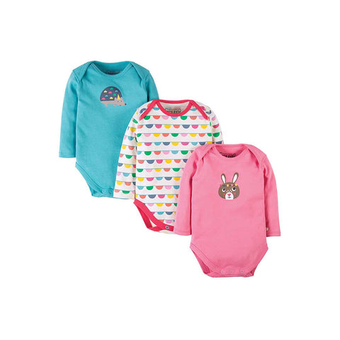Frugi Special Bodies - Bunting - 3 pack