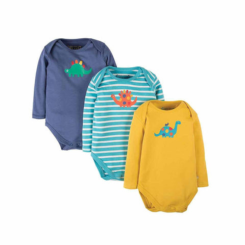 Frugi Special Bodies - Dino - 3 pack